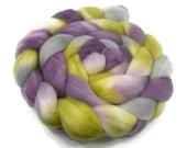 Merino Roving / Top, Purple and Yellow 3.5oz / 100gm