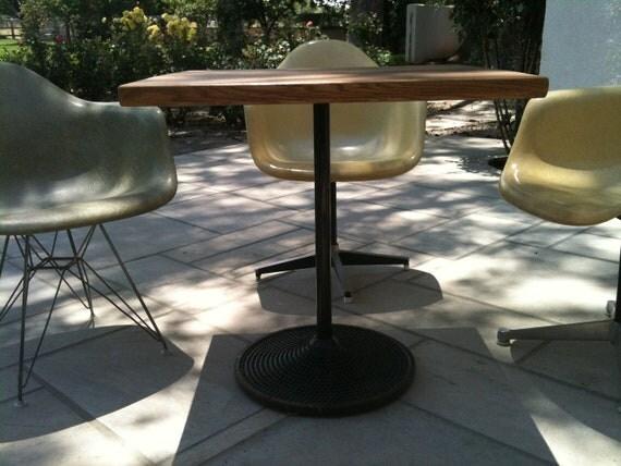 Vintage cast-iron Parisian Brasserie table