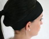 Black Exercise Headband for Women