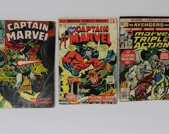 Marvel Comics Captian Marvel and The Avengers
