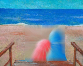 Last Summer in Fire Island---original acrylic giclee art print