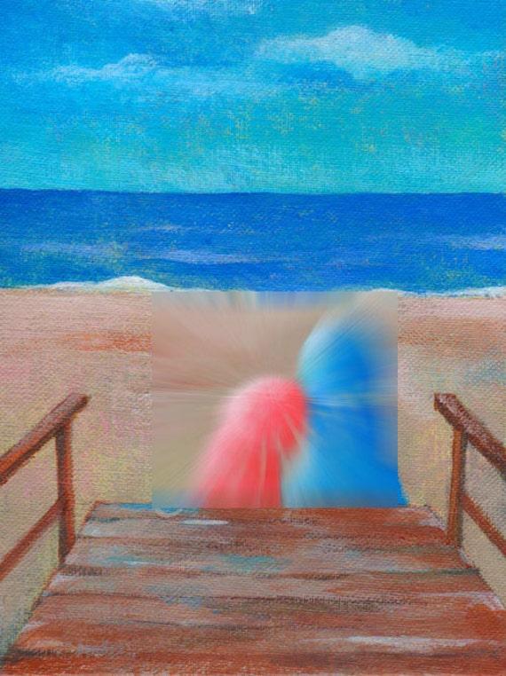 Last Summer in Fire Island---original acrylic giclee art print