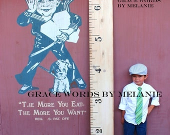 Vintage White Growth Chart Ruler