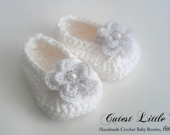 Free Crochet Patterns For Baby Converse Shoes : Baby Shoes Christening Booties Crochet Pattern Images ...