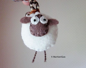 Giorgio the Sheep Felt Keychain