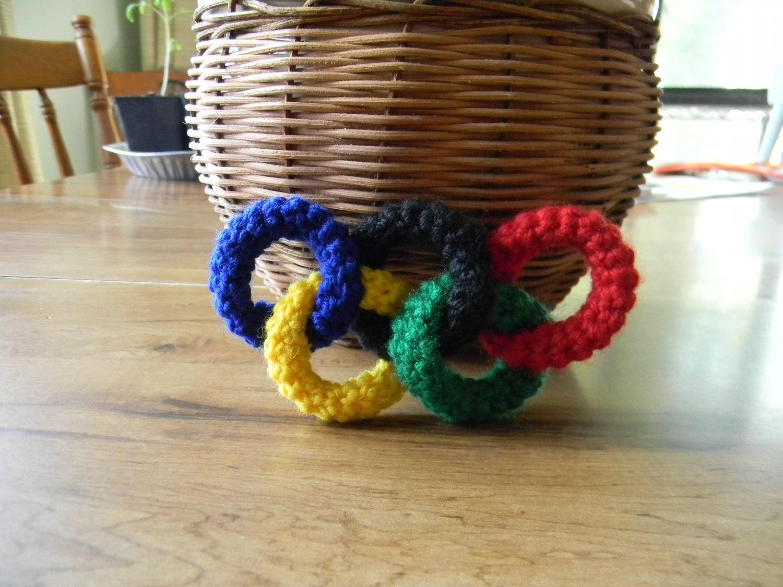 Crochet Amigurumi Ring : Crochet 3D Olympic rings amigurumi by NailyaPlaskeyDesigns ...