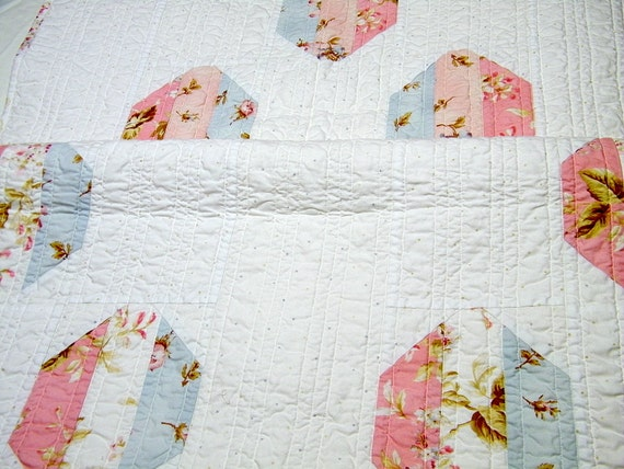 Bed Runner Cottage Chic Decor Modern Quilt  Long Table runner