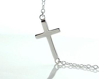 All Sterling Sideways Cross Bracelet, minimalist, jewelry, sterling , dainty , sideway