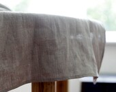 table runner - natural linen table runner - tablecloth - 18x72   0253