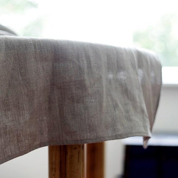 table runner - natural linen table runner - tablecloth - 18x72   0253