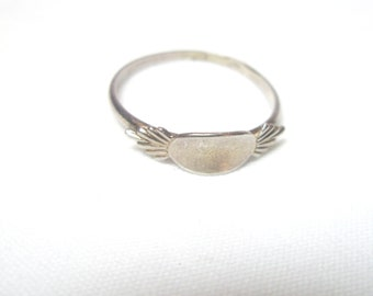 Silver ring -Vintage  OOK Ring  - 925 Sterling Silver jewelry
