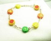 Summer's Sweet&Sour Colourful Citrus bracelet