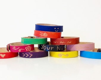 Engrave Your Name on Leather Bracelet