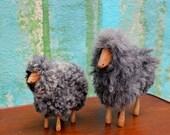 Wool & Wood Sheep / Vintage toy / Danish toys /  Wool Sheep