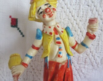 Vintage 1950's Clown Resin Fontannini Last Drink...Collectors