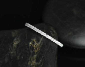 14kt White Gold Matching Band to Kubian 7mm/ Samina 7mm Diamonds ALMOST Eternity Band (Other Metals Available)