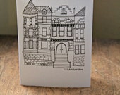 The Royal Tenenbaums 111 Archer Avenue Original Drawing Card