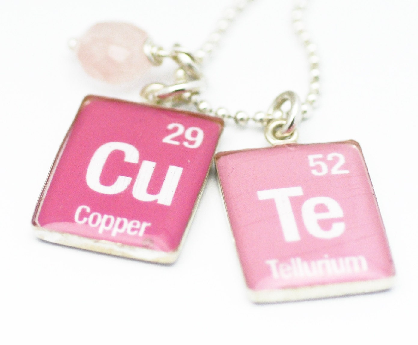 Periodic table necklace element charms science jewelry zoom gamestrikefo Images