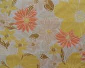 Vintage Bright, Bright Yellow Floral Fat Quarter
