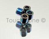 8/0 Delica Round Seed Beads Medium Blue Iris 6.8 Gram Tube DBL5 #-