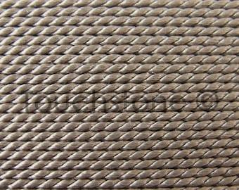 Griffin Natural Silk Bead Cord No 6 Gray #45-17