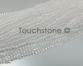 11/0 Czech Seed Beads Crystal Transparent 35 Grams #26-110012