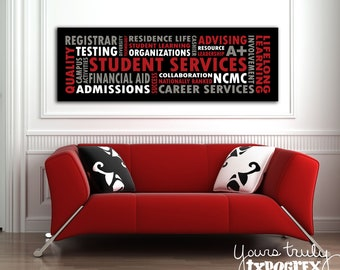 16x48 Canvas featuring Custom Typography Word Art - Your Words, Your Colors, Your Story - Great for Family, Wedding and Baby Gifts