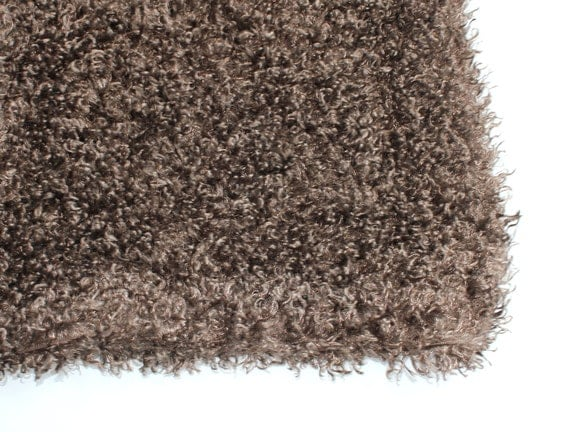 "PHOTO PROP -   Baby Texture Blanket - BROWN  - Backdrop - size about 25"" x 34"" - ready to ship"