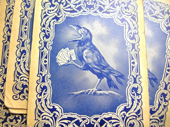 Antique Rook raven cards, ephemera,scrapbook,paper craft,altered art, destash