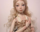 Creamy Blonde Porcelain Ball Jointed Doll  BJD Art Doll by Kelly Salchli, Antique Lace Dress