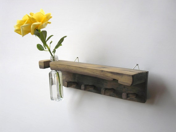key holder, with a shelf and vase
