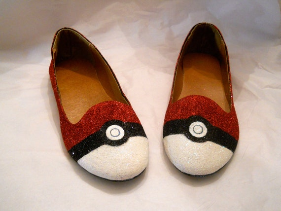 Pokemon Pokeball Glitter Shoes