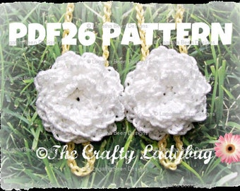 Chrysanthemum barefoot sandals  - crochet pattern for babies and toddlers - PDF26 digital download