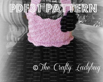 Crochet and tulle tutu dress pattern - PDF31 digital download