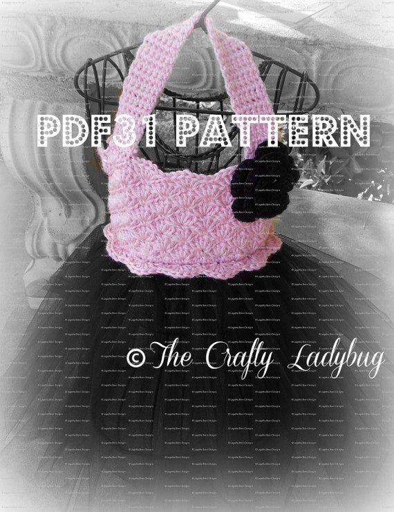 Crochet and tulle tutu dress pattern PDF31 digital download