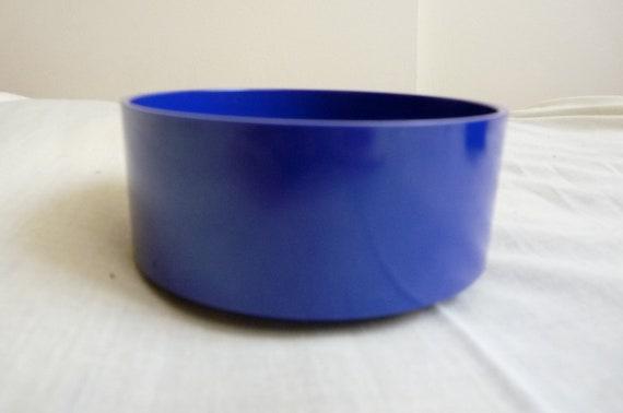 70's Heller Design by Massimo Vignelli cobalt blue stacking stackable melamine casual dinner ware bowl, sturdy, classic design, pop art, mod