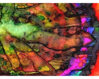 P6 - Colorful Surreal Abstract Postcard