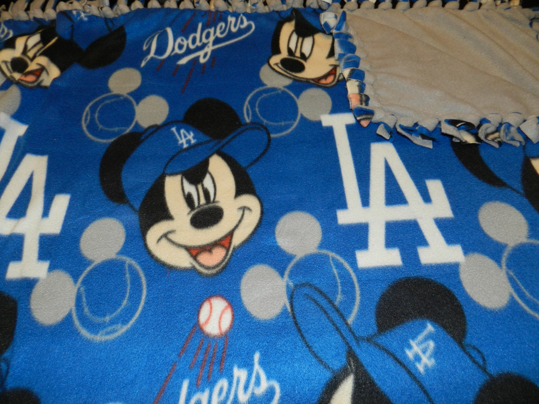 Los Angeles Dodgers Mickey Fleece Blanket Mlb Dodgers By