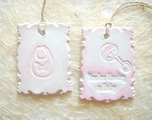 Baby Clay Tags ,Baby Favor, Gift Clay Tags,