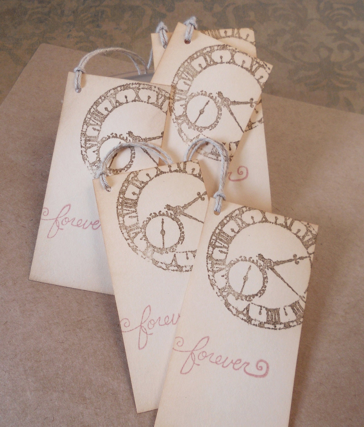 Vintage Wedding Gifts: Wedding Wish Tree Tags Vintage Clock Gift Favors Hand