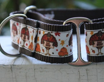 "Eat Beef for Thanksgiving 1.5"" Martingale Collar"
