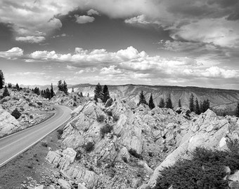 "The road to the Hoodoos in Yellowstone National Park 16""X24"" photograph."