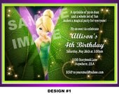 Tinkerbell Invitation - Fairy Invitation - Disney Tinkerbell Birthday Invitation - Party Printable - 2 DESIGNS, PHOTO OPTION