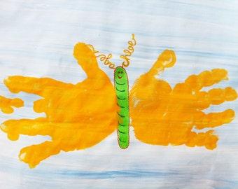 Children's DIY Craft:  Butterfly Handprints 8inx10in