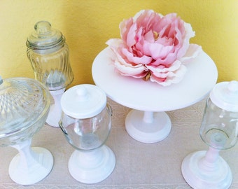 Cake Stand And Candy Jars Set of 5 pieces, dessert table, candy bar, dessert station