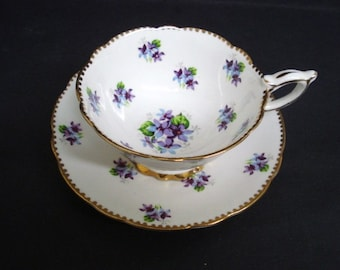 Slorious ROYAL STAFFORD TEACUP Set  - Made in England-  Cup and Saucer Set