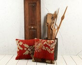 "hand woven vintage kilim pillow cover - 15.75"" x 15.75"" - free shipment with UPS - 02388-59"