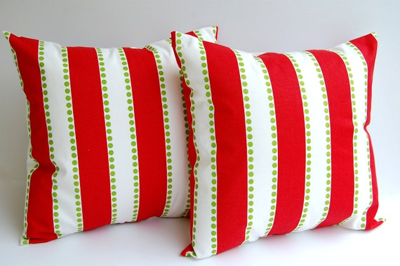 Christmas pillow covers set of two 20 x 20 LuLu by ThePillowPeople