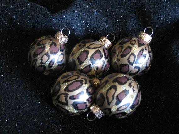 Miniature Leopard Print Christmas Ornament