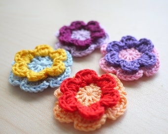 Rainbow Flower Embellishments
